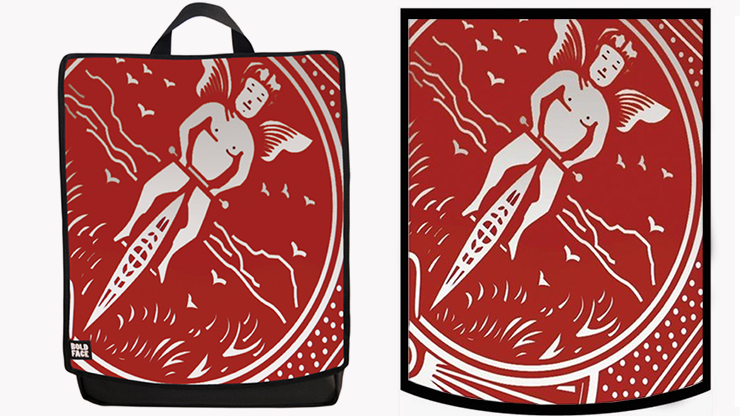 CARD Backpack (Red) by Paul Romhany and BOLDFACE