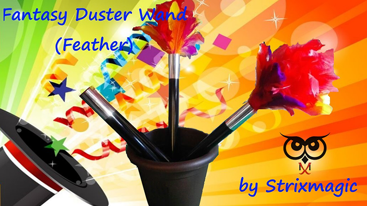 Fantasy Duster Wand (Feather) by Strixmagic Zauberstab zu Federblume