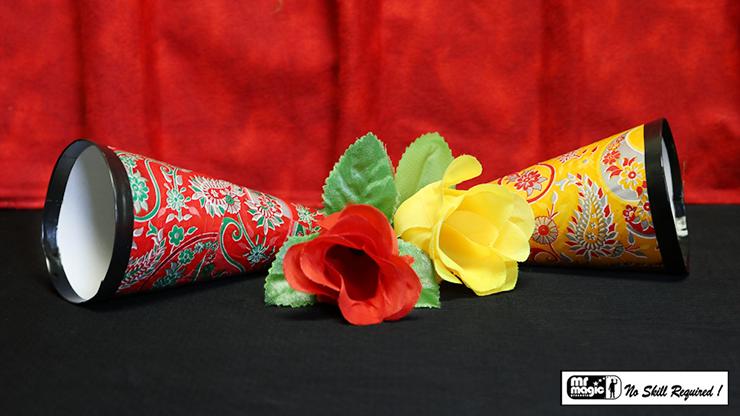 Flower & Cone Mystery by Mr. Magic Blume schwebt fest in Kegel