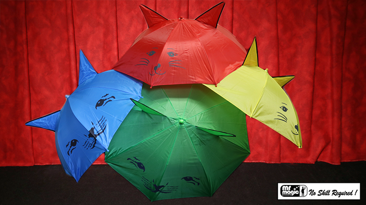 Umbrella Production Silk by Mr. Magic (4 Umbrellas) Regenschirme aus Seidentüchern