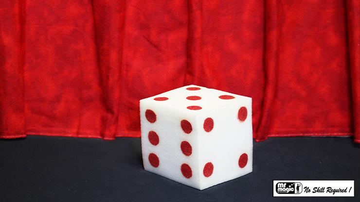 Ball to Dice (Red/White) by Mr. Magic Schwammbälle zu Würfel