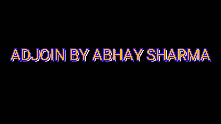 ADJOIN by Abhay Sharma video DOWNLOAD