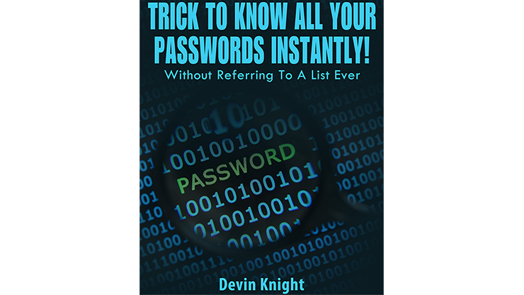 Trick To Know All Your Passwords Instantly! (Written for Magicians) eBook DOWNLOAD