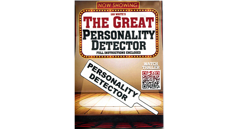 The Great Personality Detector Paddle  by MagicWorld and Ian White Aufschrift auf Paddel durch Berührung verwandeln
