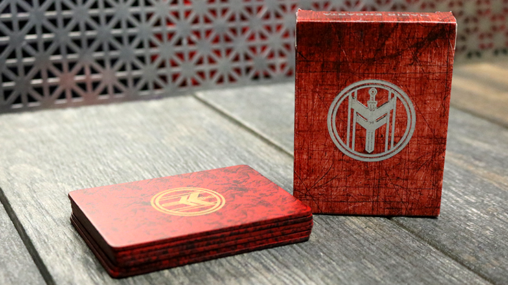FIBER BOARDS Cardistry Trainers (Jasper Red) by Magic Encarta
