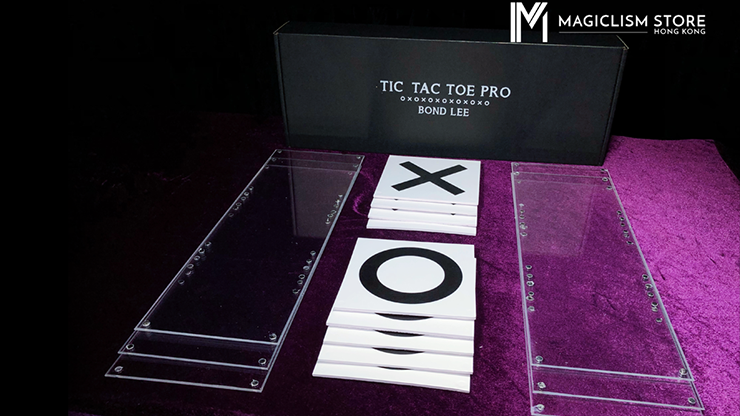 Tic Tac Toe Pro (Parlor) (Gimmick/ wooden easel and online instructions) by Bond Lee and Kaifu Wang - Trick