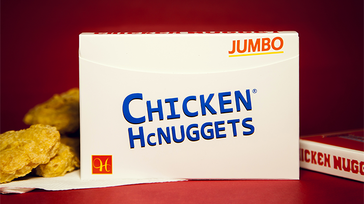 Jumbo Chicken Nugget Playing Cards - Red