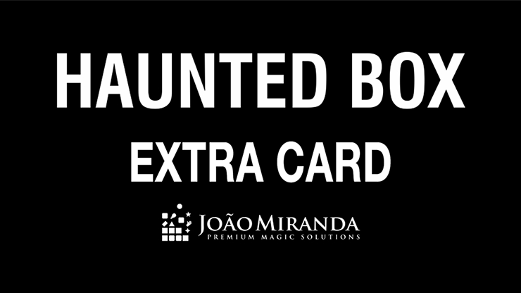 Haunted Box Extra Gimmicked Card (Red) by João Miranda Magic Nachfüllmaterial