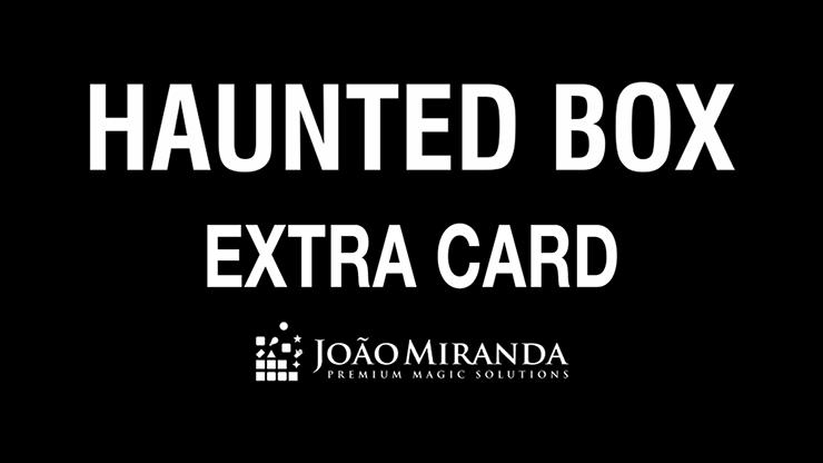 Haunted Box Extra Gimmicked Card (Red) by João Miranda Magic - Trick