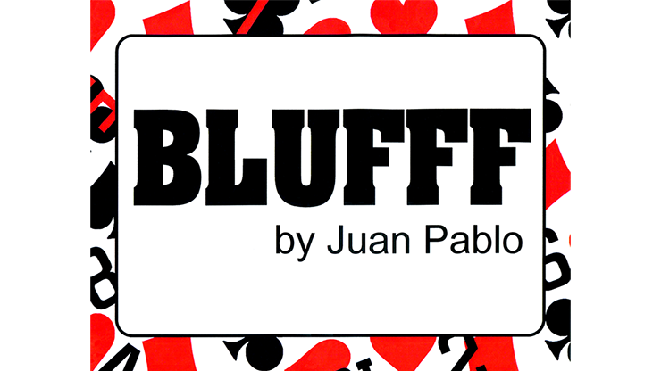 BLUFFF (Numbers & Pips to 10 of Hearts) by Juan Pablo Magic Kartensymbole und -zahlen auf Seidenschal zu Zuschauerkarte