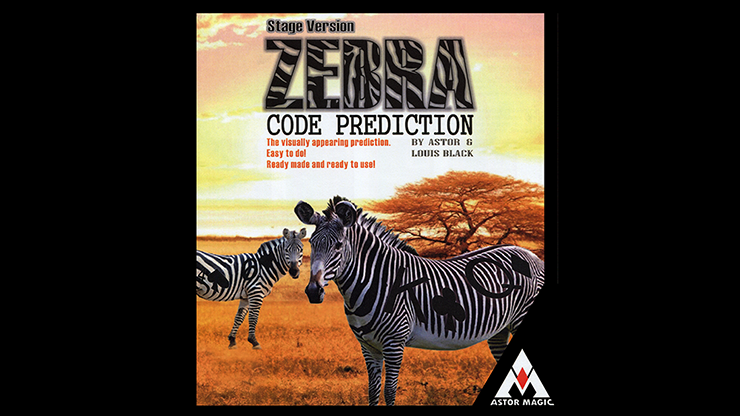 Zebra Code Prediction (Stage Version) by Astor and Louis Black