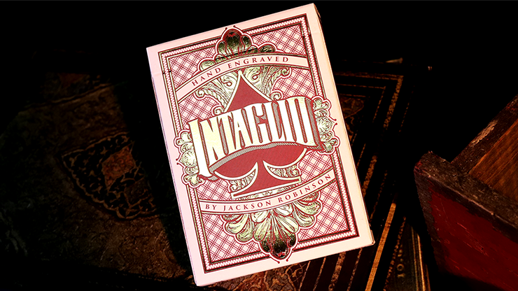 Intaglio Red Playing Cards by Jackson Robinson Poker Kartenspiel Spielkarten