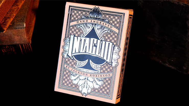 Intaglio Blue Playing Cards by... MagicWorld Magic Shop