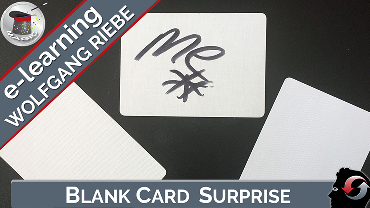 Blank Card Surprise by Wolfgang Riebe