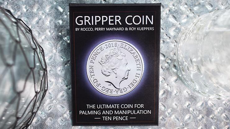 Gripper Coin (Single/10p) by Rocco Silano Trickmünze mit Silikonrand für sichere Moves