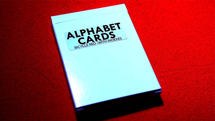 Alphabet Playing Cards Bicycle With Indexes by PrintByMagic Buchstaben-Kartenspiel mit Index