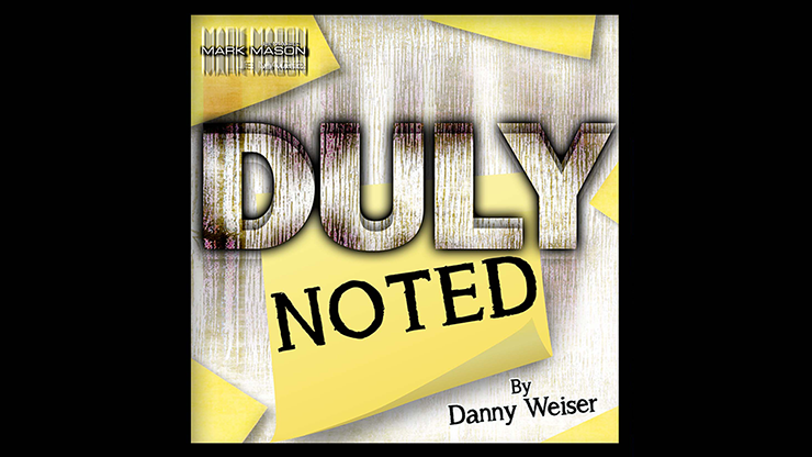 DULY NOTED Blue (Gimmick and Online Instructions) by Danny Weiser Voraussage verwandeln