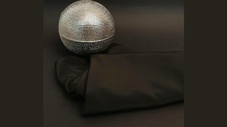Silk for Zombie ball PRO (Black) by Bazar de Magia Seidentuch für Zombie-Ball-Routine, Schwarz