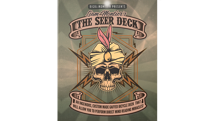 Liam Montier's THE SEER DECK Gimmick and Online Instructions (Blue) Trickkartenspiel für Gedankenlese-Mirakel