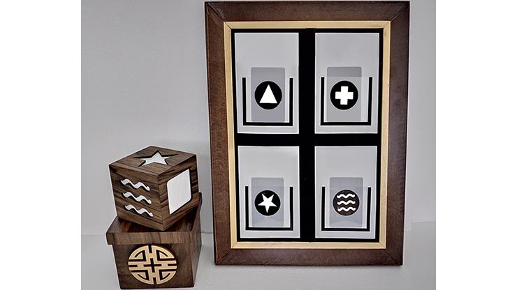 MIND BOARD ESP by Tora Magic ESP-Symbolvoraussage mit Tafel, Box, Karten und Würfel