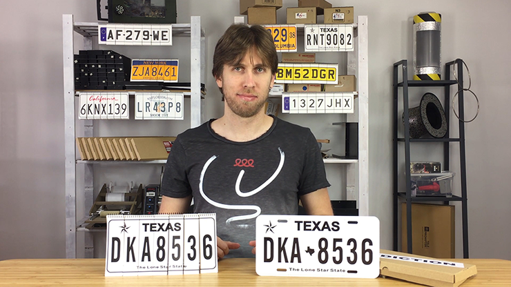 LICENSE PLATE PREDICTION - TEXAS (Gimmicks and Online Instructions) by Martin Andersen Nummernschild-Voraussage Modell Texas