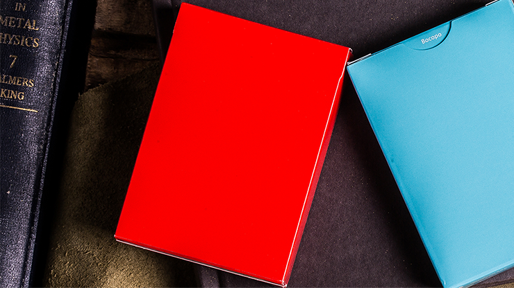Steel Playing Cards (Red) by Bocopo Poker Kartenspiel Spielkarten