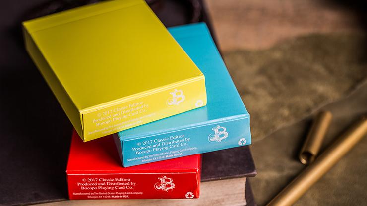 Steel Playing Cards (Yellow) by Bocopo Poker Kartenspiel Spielkarten