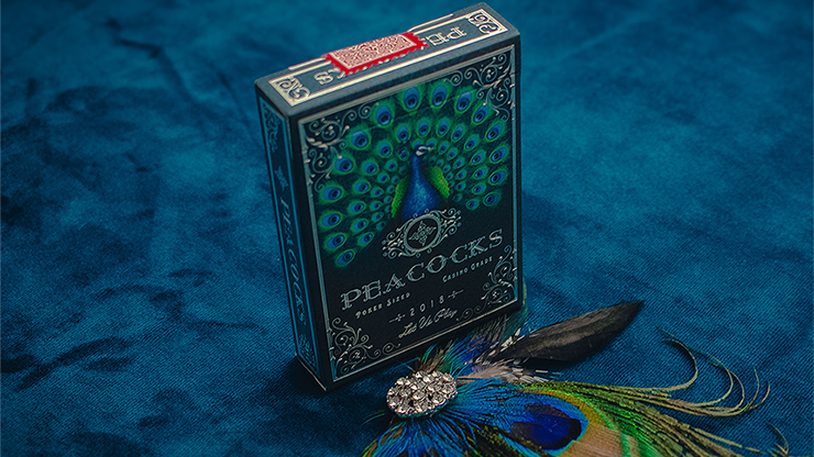 Limited Edition Peacocks Playing Cards by Rocsana Thompson Poker Kartenspiel Spielkarten