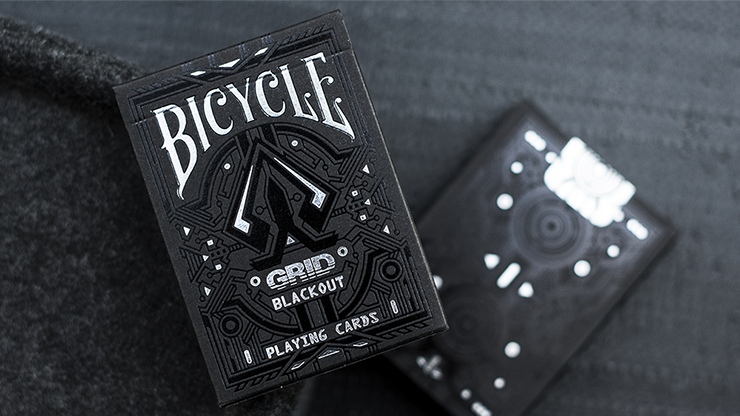 Limited Edition Bicycle Grid Blackout Playing Cards