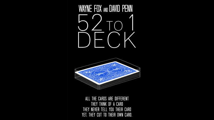 The 52 to 1 Deck Blue (Gimmicks and Online Instructions) by Wayne Fox and David Penn Preisgekrönte Mentalroutinen JETZT IN BLAU