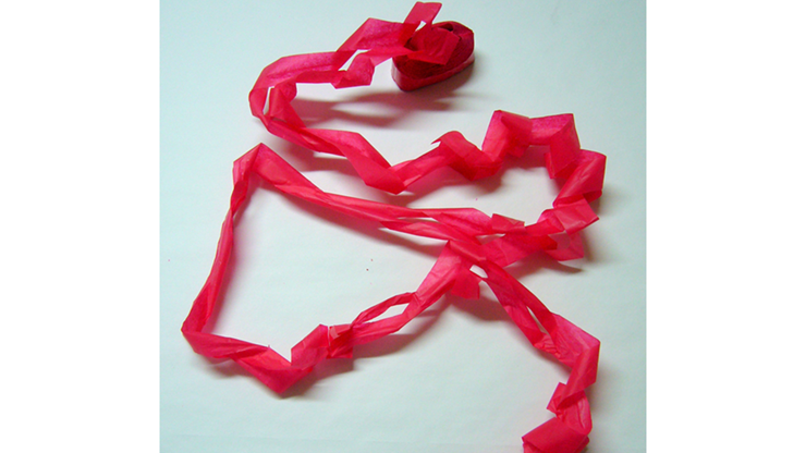 Serpentina de Boca para Magia  14 metros (Rojo -12 piezas) - Opkoopjes