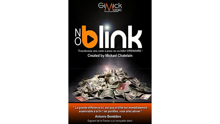 NO BLINK BLUE (Gimmick and Online Instructions) by Mickael Chatelain Durch Pusten Karte in Geldschein verwandeln