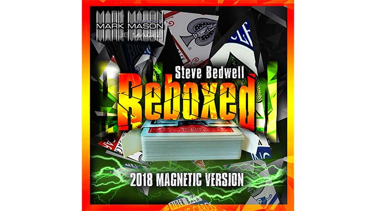 Reboxed 2018 Magnetic Version Red (Gimmicks and Online Instructions) by Steve Bedwell and Mark Mason