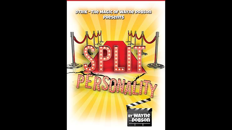 Split Personality (Gimmicks and Online Instructions) by Wayne Dobson Voraussage mit Namenskarten von Filmstars