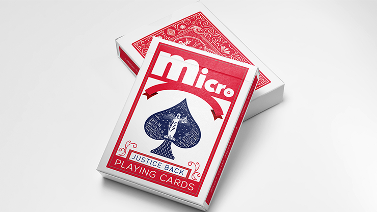 Micro Red (Gimmick and Online Instructions) by Alchemy Insiders Karten schrumpfen lassen
