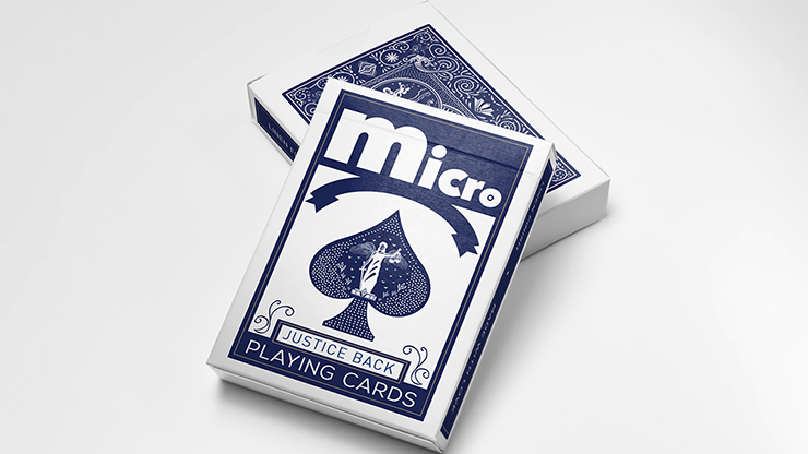 Micro Blue (Gimmick and Online Instructions) by Alchemy Insiders Karten schrumpfen lassen