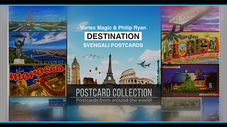 Vortex Magic Presents DESTINATION by Philip Ryan (Svengali Postcards) - Trick