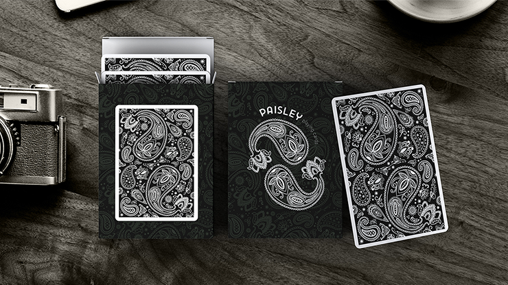 Paisley Playing Cards Workers Deck Black