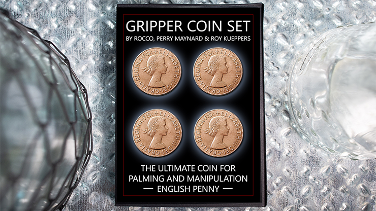 Gripper Coin (Set/English Penny) by Rocco Silano