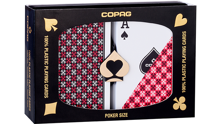 Copag 1546 Plastic Playing Cards Poker Size Regular Index Red/Blue Double-Deck Set
