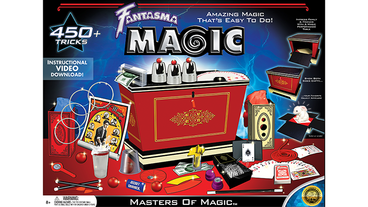 Masters of Magic by Fantasma Magic Zauberkasten mit über 450 Zaubertricks