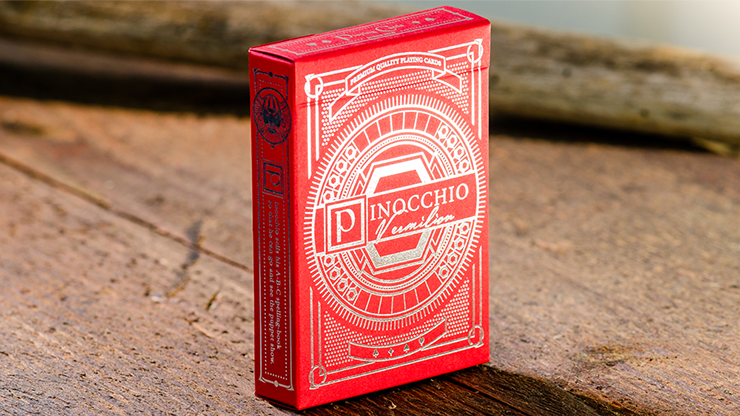 Pinocchio Vermilion Playing Cards (Red) - Elettra Deganello