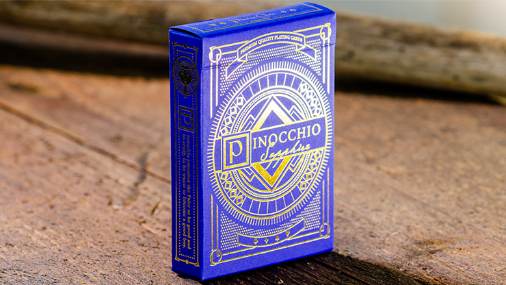 Pinocchio Sapphire Playing Cards (Blue) - Elettra Deganello