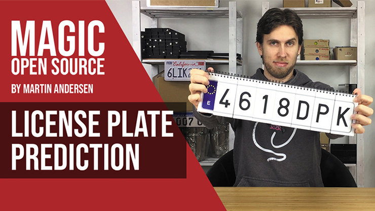 LICENSE PLATE PREDICTION - JAPAN (Gimmicks and Online Instructions) by Martin Andersen