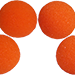 1.5 inch HD Ultra Soft  Orange Sponge Ball Set of 4 from Magic by Gosh