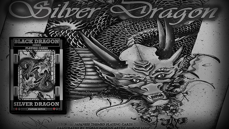 Silver Dragon (Standard Edition) Playing Cards by Craig Maidment Markiertes Trick-Kartenspiel