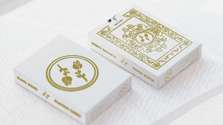 Black Roses White Gold Playing Cards Limited Edition