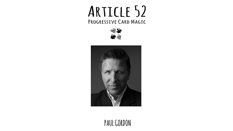 Article 52 - Paul Gordon - Libro de Trucos de Magia