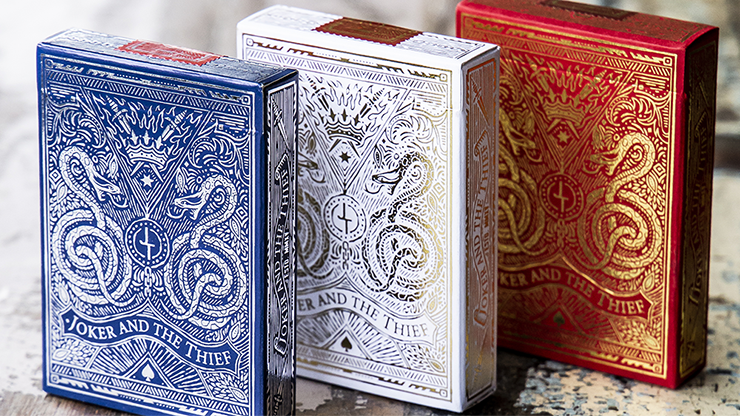 White Gold Edition Playing Cards - Joker & the Thief