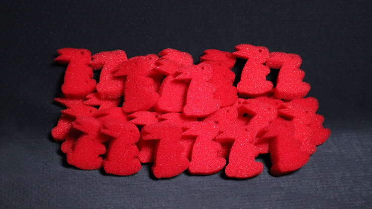 Ultra Soft Red Bunny Bag of 50